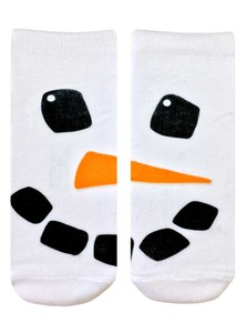 LIVING ROYAL SNOWMAN FACE WOMEN'S ANKLE SOCKS