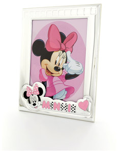 Disney Minnie Mouse Portrait Photo Frame Silver/Pink [18x24cm]