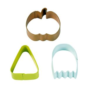 Wilton Hal Pumpkin Ghost & Corn Cutter [Set of 3]