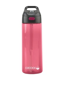 O2Cool Raspberry Prism Brighton Mist N Sip Top 24 Oz Water Bottle
