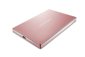 LACIE PORSCHE DESIGN 2TB USB-C ROSE GOLD EXTERNAL HARD DRIVE