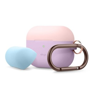 Elago Duo Hang Case Top Lovely Pink/Pastel Blue Bottom Lavender for AirPods Pro