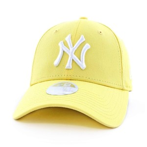 New Era Women's League Essential Ny Yankees Lady'S Cap Pastel Yellow Osfa