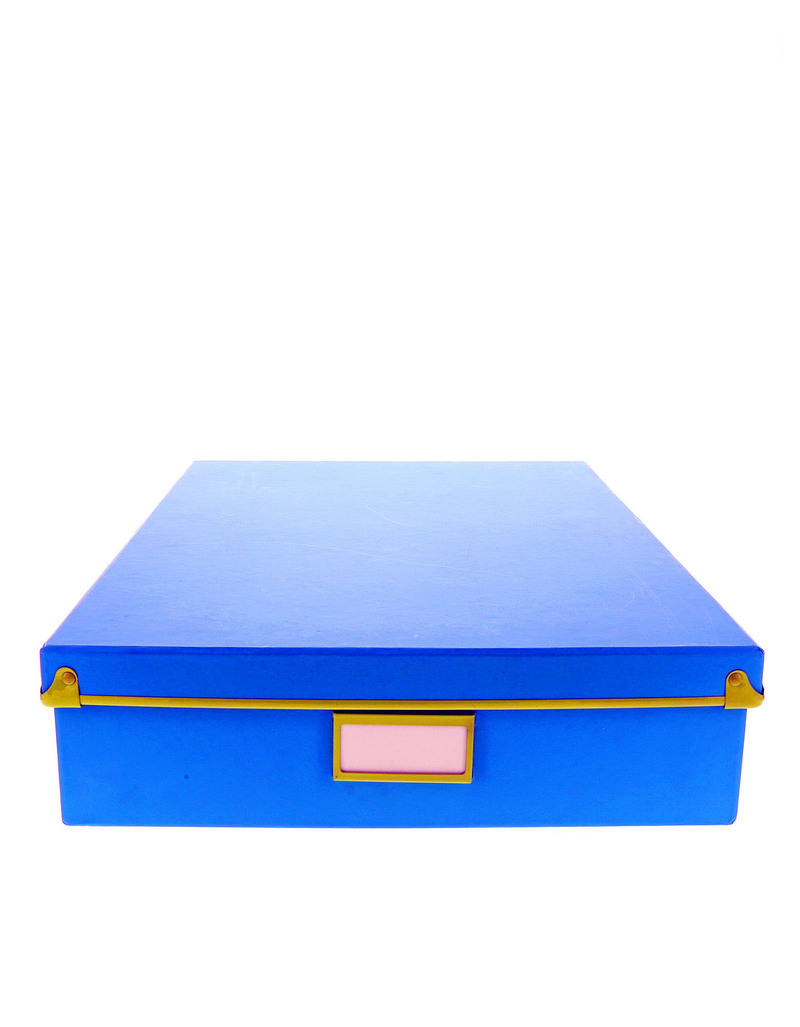 Frisco Document Box Blue W/Green