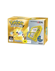 Nintendo 2DS Pokemon Edition Yellow Console +1 Game [Bundle]
