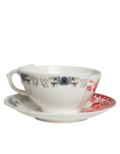 Seletti Hybrid Zora Porcelain Teacup With Saucer