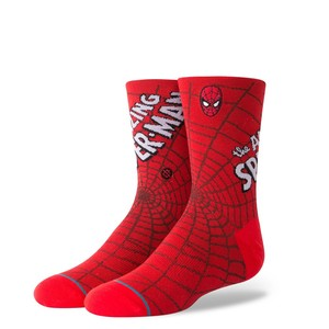 Stance Marvel Amazing Spiderman Youth Boys Socks Red