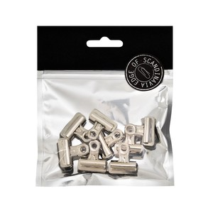 BNT 25mm Edge Bulldog Binder Clip Silver [8 Pack]