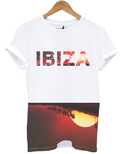 Distinkt Youth Ibiza Red Sunset White Unisex T-Shirt