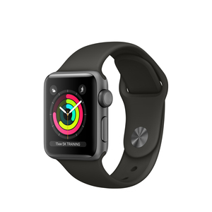 Apple Watch Series 3 38mm Space Grey Aluminum Case With Grey Sport Band