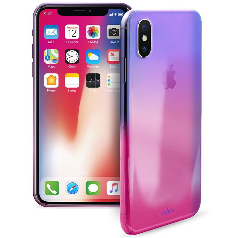 detailing ea326 0b1bf Puro Hologram Pc Case Pink for Iphone X