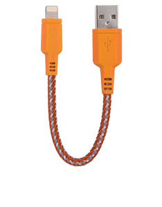 Energea NyloTough Rapid Charge & Sync Orange Lightning Cable 16cm