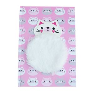 Happy Zoo Cat Notebook with Plush Patch