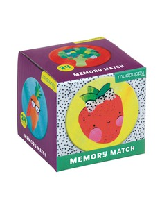 Mudpuppy Fruits & Veggies Mini Memory Match Game