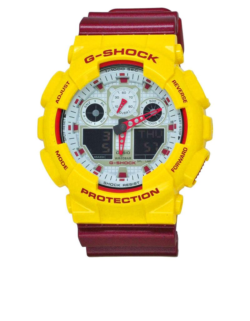 Casio Ga 100cs G Shock Analog Digital Watch Yellow