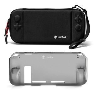 tomtoc Hard Shell Case Black With Grip Back Cover for Nintendo Switch