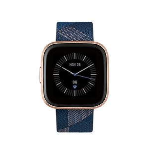 Fitbit Versa 2 Special Edtion NFC Navy/Pink Woven Band Copper Rose Aluminum Case Smart Watch