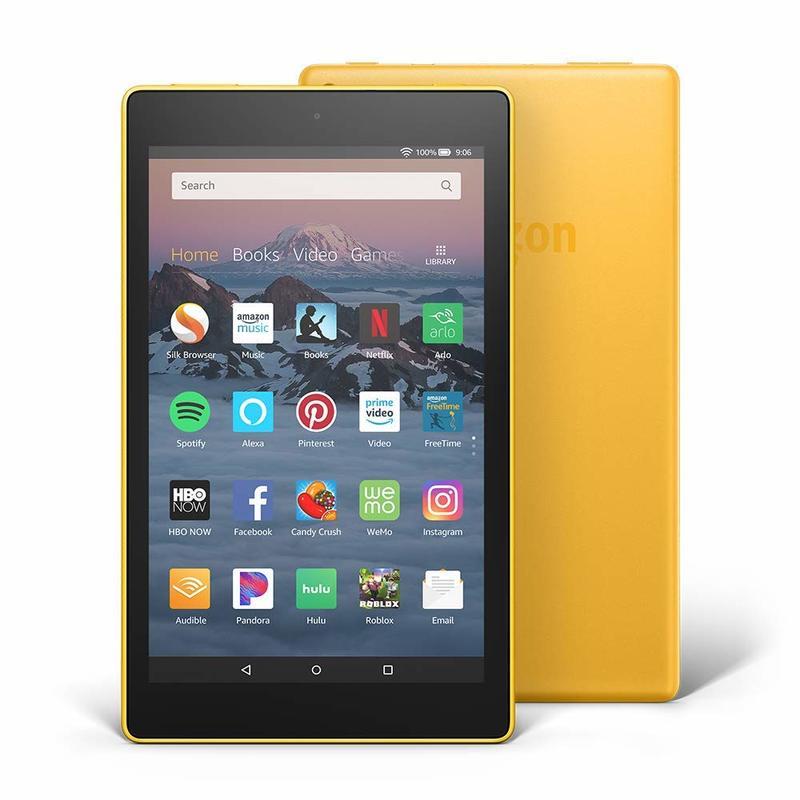 Amazon Fire HD 8 32GB Yellow Tablet with Alexa