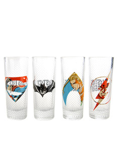 Justice League Mini Glasses 100ml [Set of 4]