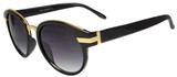 Ego Fashion Sunglasses Round Frame Women Tortoise/Black/Matte Black