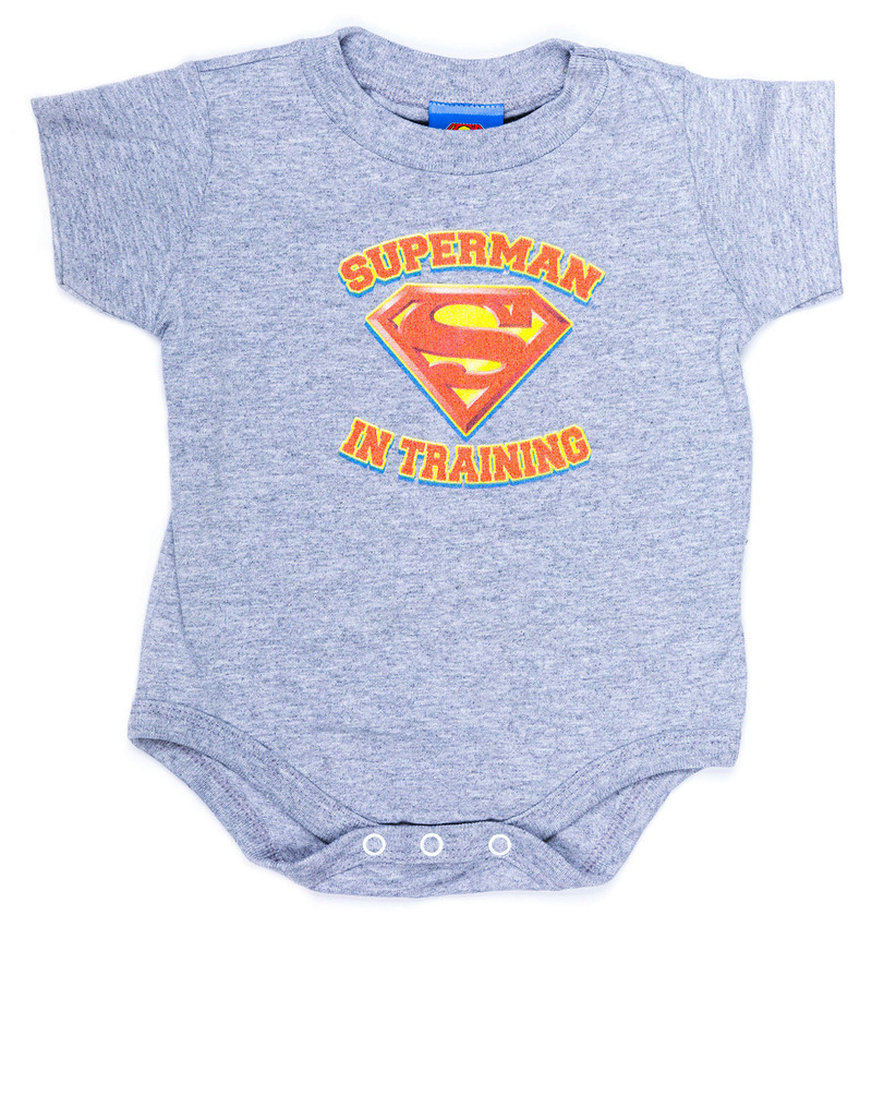 Superman In Training Heather Infant Snapsuit 24 Mos