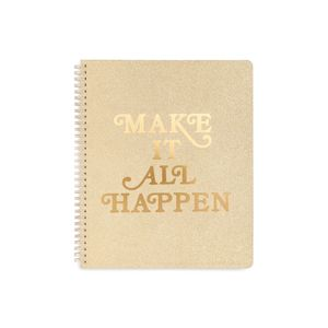 Ban.do Make It All Happen Rough Draft Large Notebook