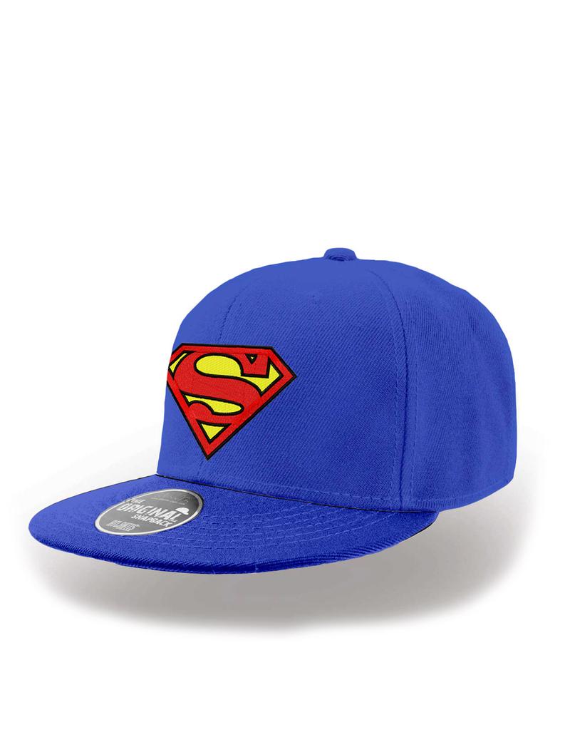 CID DC Originals Superman Logo Flat Peak Blue Snapback Cap  e12e63f63b4