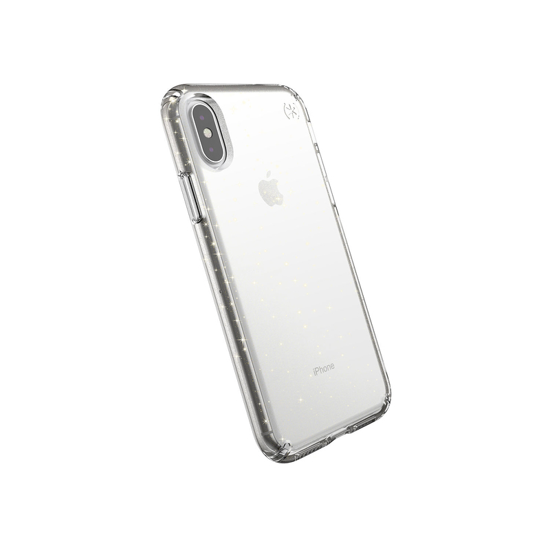 736ec5d2085 Speck Presidio Clear + Glitter Case Clear with Gold Glitter/Clear for  iPhone XS