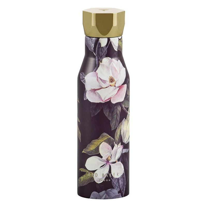 Ted Baker Women's Water Bottle Knurled Lid Black Opal