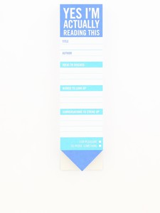 Knock Knock Yes I'm Actually Reading This Bookmark Pad