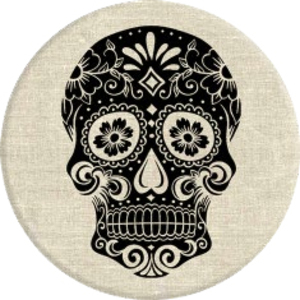 PopSockets Sugarskull On Linen Stand & Grip for Smartphones