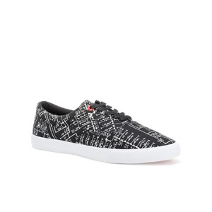 Bucketfeet Electronique Black Low Top Canvas Lace Men's shoes