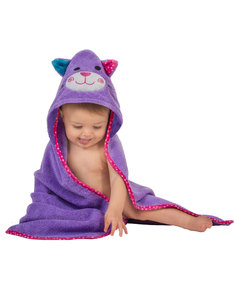 Zoocchini Kallie The Kitten Purple Baby Hooded Towel