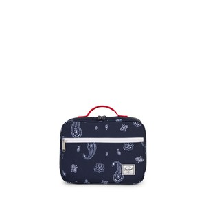 Herschel Pop Quiz Kids Lunchbox Bandana Paisley Peacoat/Barbados Cherry