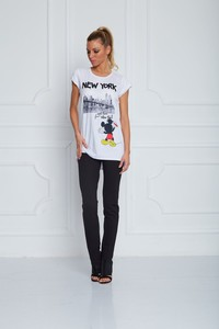 Sugarbird Mickey Mouse Light Us Up NY T-Shirt White