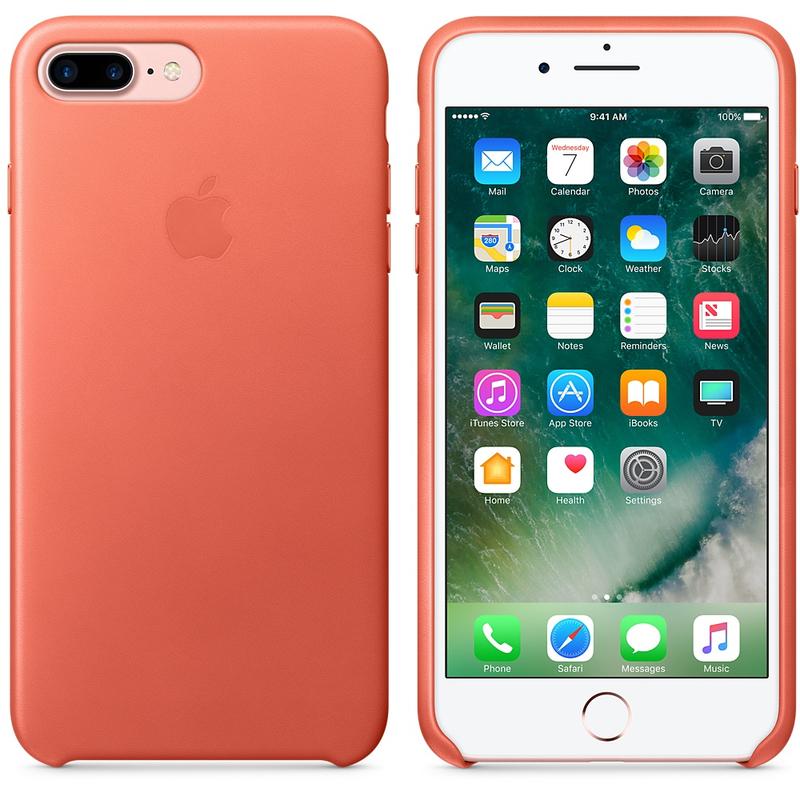best website e35e5 8efb2 Apple Leather Case Geranium For iPhone 8/7 Plus