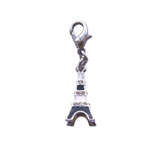 BOMBAY DUCK DIAMANTE EIFEL TOWER CHARM BLACK