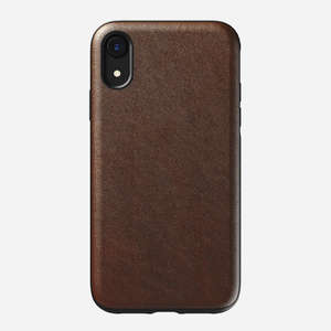 Nomad Rugged Leather Case Rustic Brown for iPhone XR