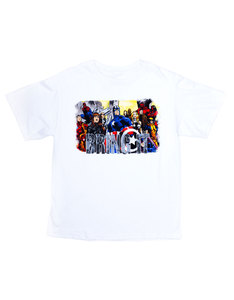 Marvel We Team White Youth T-Shirt