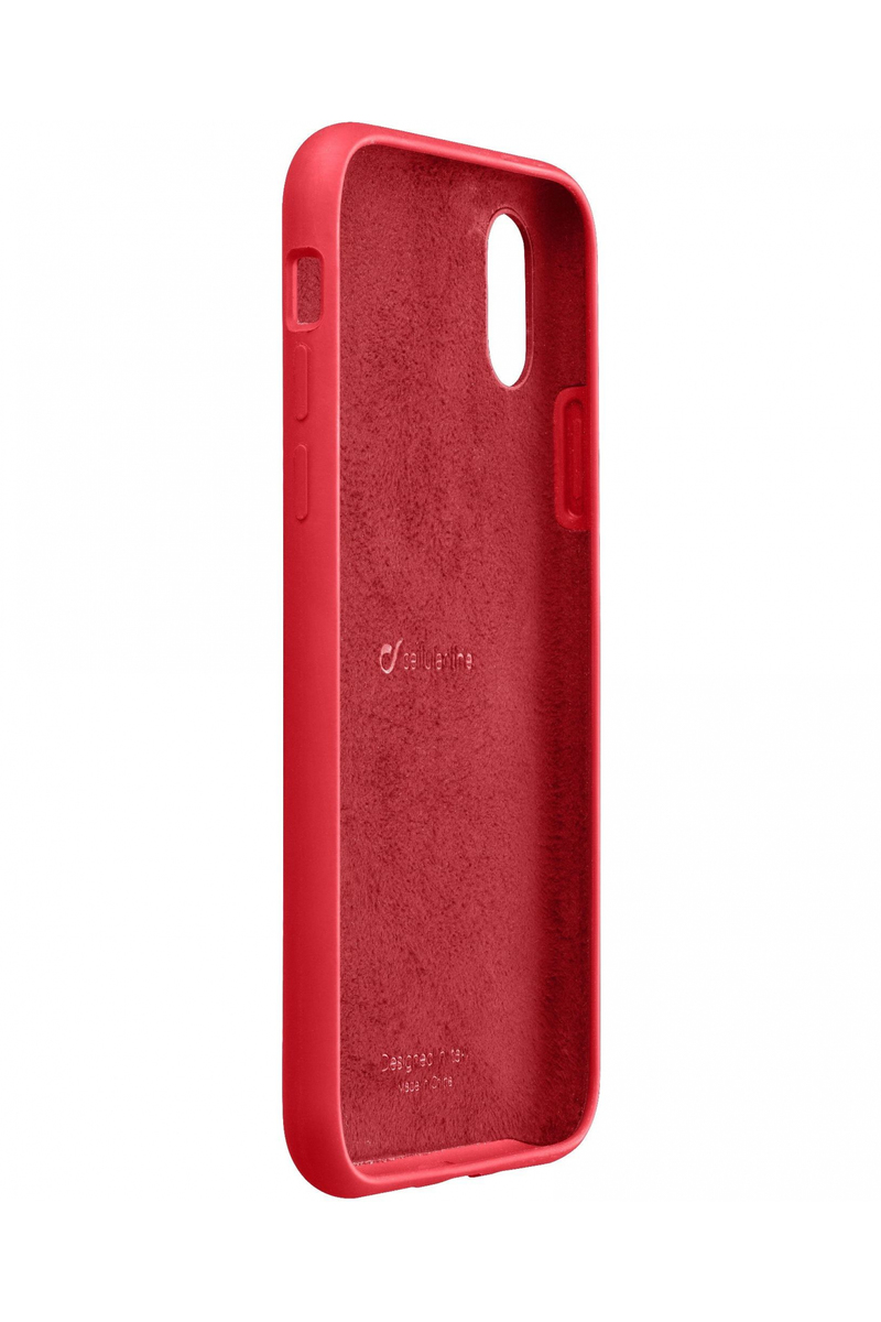cheap for discount c110f 8ab8e CellularLine Sensation Soft Touch Case Red for iPhone XR