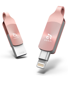 Adam Elements iKlips Duo+ 32GB Rose Gold Mobile Data Storage