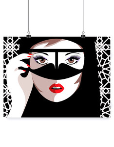 YISLAMOO HELLO GORGEOUS A4 WALL ART PRINT