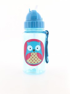 Skip Hop Zoo Straw Kids Water Bottle Owl 350ml