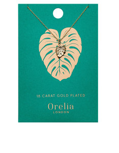 Orelia Gold-Plated Palm Leaf Ditsy Necklace