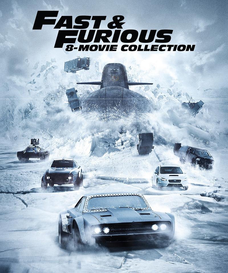 fast furious 8 movie collection 8 disc set movies film tv virgin megastore. Black Bedroom Furniture Sets. Home Design Ideas