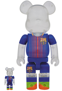 Bearbrick FC Barcelona 400/100 Percent Figures [Set of 2]