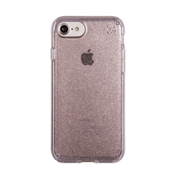 Speck Presidio Case Clear Glitter Rose Pink With Gold IPhone 8