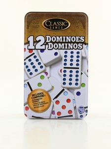 TCG Double 12 Dominoes in a Tin