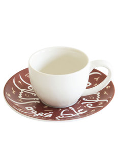 Silsal Turkish Coffee Cup Maroon