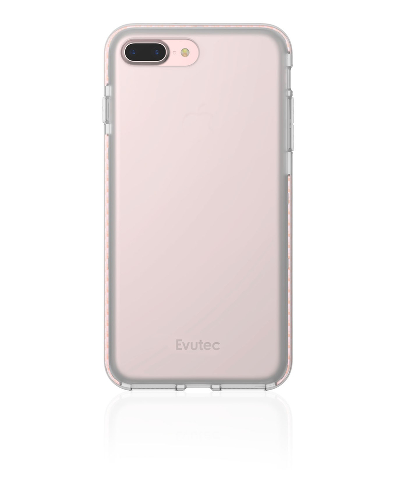 Evutec Selenium Case Clear With Rose Gold Acm Track Bumper For For iPhone 8  7 Plus
